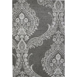 Damask Tone on Tone Gray Rug 6'8''x 10'