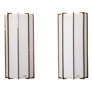 Harvey Guzzini Italian 2 Light Wall Sconces - A Pair