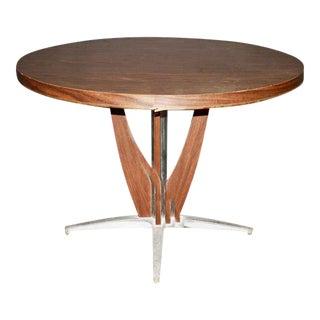 Mid-Century Modern Cast Aluminum Base Dining Table