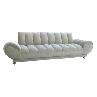 Low Tufted Roll Arm Sofa