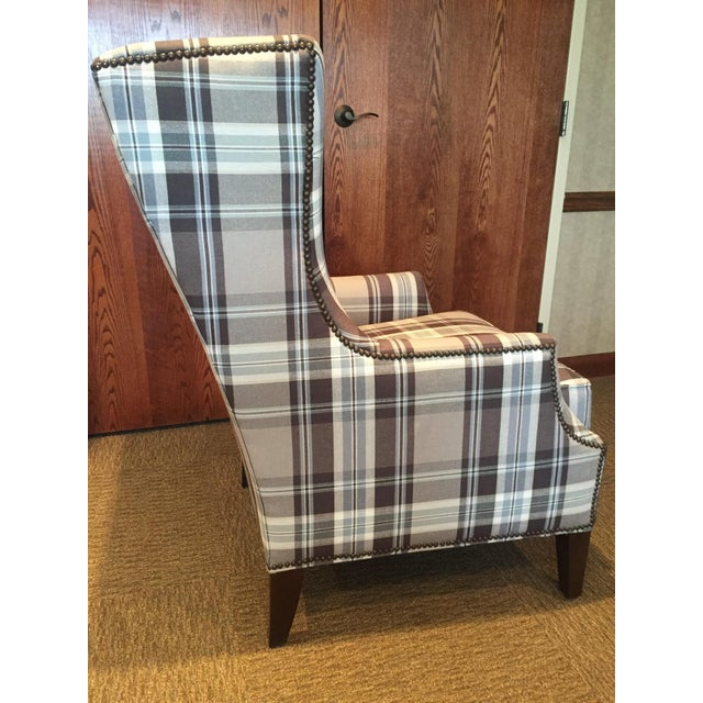 Huntington House Gray & Blue Accent Chair
