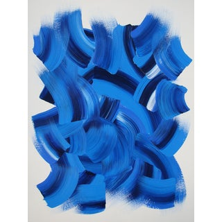 Blue Abstract Acrylic Painting