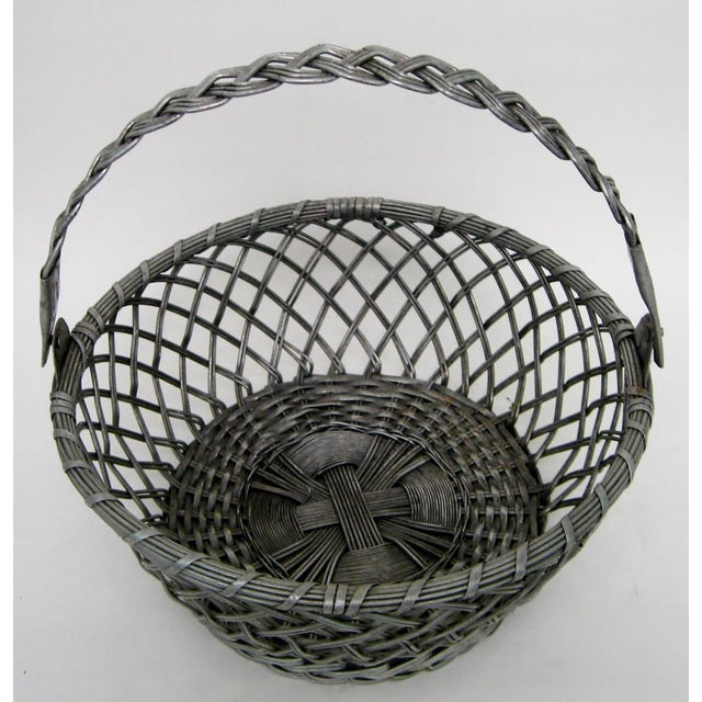 Vintage Tin Basket - Image 4 of 8