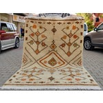 Image of Moroccan Beni Ourain Style Turkish Oushak Rug - 5′7″ × 8′