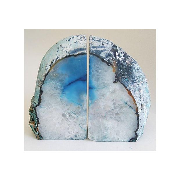Blue And Ice Crystal Rock Bookends - Pair - Image 2 of 5
