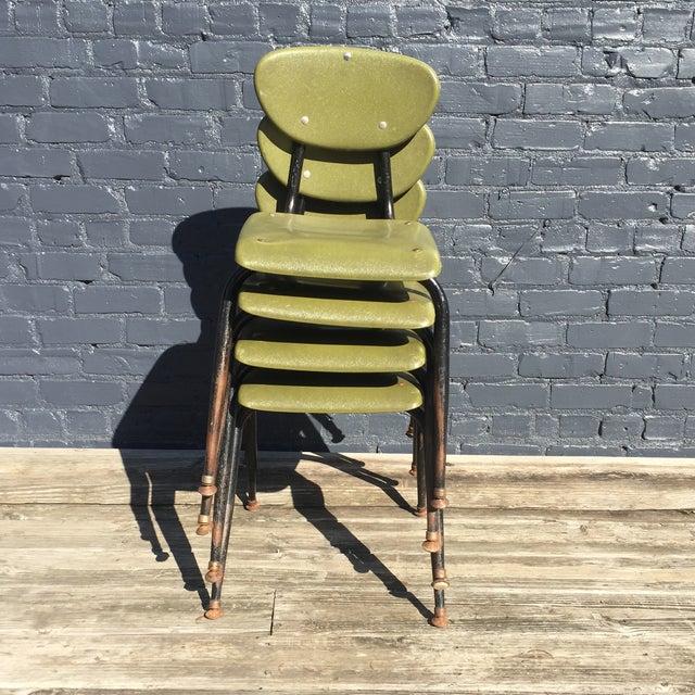 Mid-Century Metal Kids Chairs - Set of 4 - Image 5 of 5