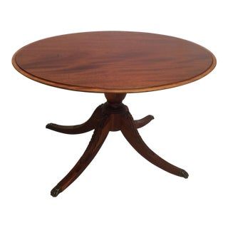 Mahogany Oval Pedestal Based Coffee Table