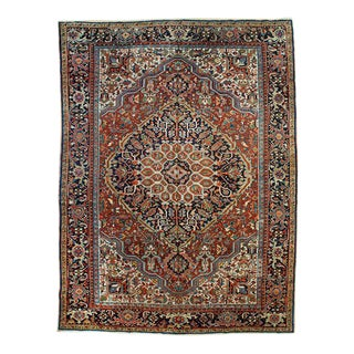 Antique Persian Heriz Rug - 8′10″ × 11′7″