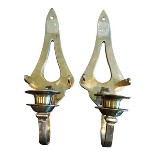 Adjustable Brass Wall Sconces - A Pair