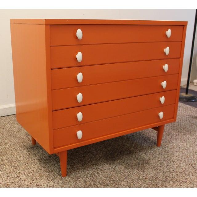 Atomic Orange Laminate Dresser - Image 3 of 11