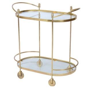 Brass Rolling Bar Cart