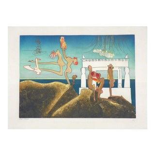 Signed Roberto Matta Surrealist Lithograph, Ed. 22/33