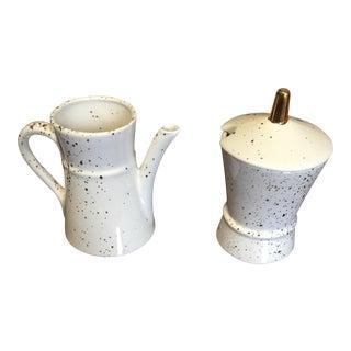 Mid-Century Modern Creamer & Sugar Bowl