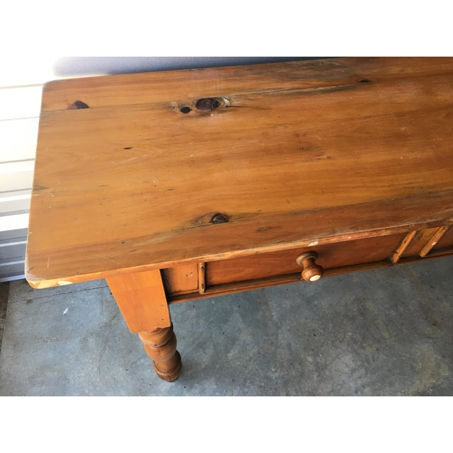 Rustic Handmade Console Table - Image 8 of 11