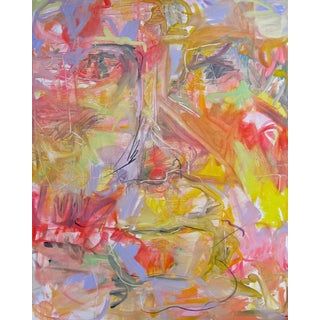 "Large Abstract Painting by Trixie Pitts ""Big George"""
