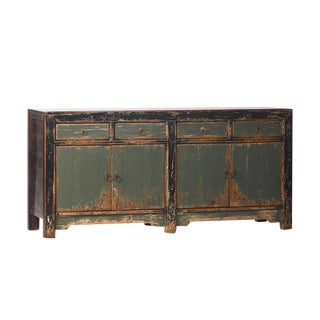 Mongolian Painted Wood Buffet