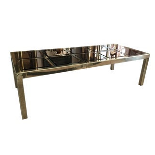 Bronze Glass Mastercraft Dining Table