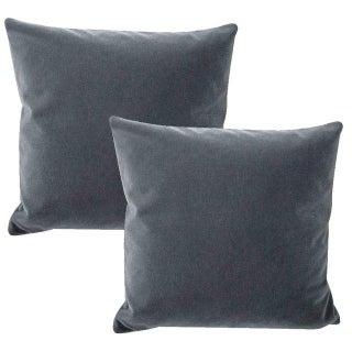 Schumacher San Carlo Mohair Pillows - a Pair