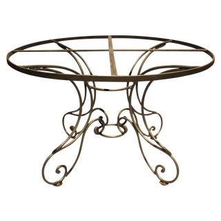 Wrought Steel Dining Table Base