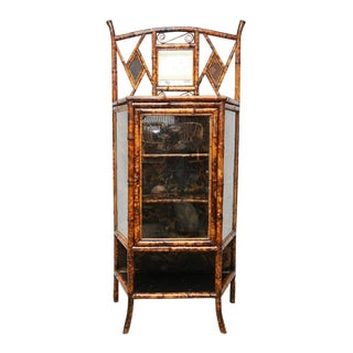 19th C. English Lacquer Bamboo Cabinet