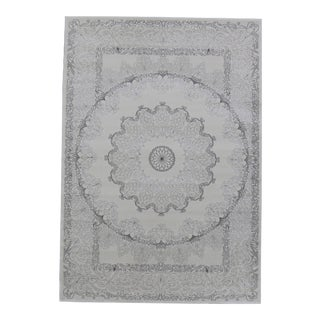 Soft Touch Shine Medallion Rug Smoke Gray - 5′ × 8′