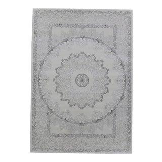 Soft Touch Shine Medallion Rug Smoke Gray - 5′ × 8′