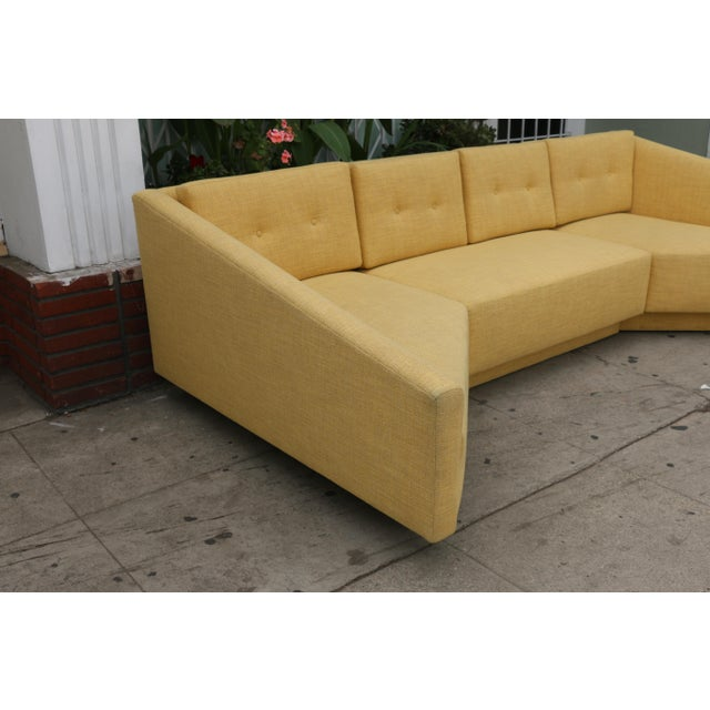Yellow Sectional Sofa - Image 5 of 11