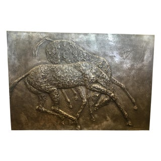 Signed Metal Equine Wall Sculpture, France