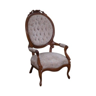 Victorian Walnut Gentleman's Arm Chair