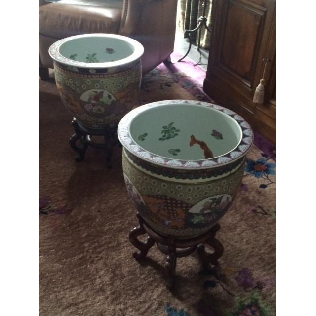 Koi Fish Bowls - Pair - Image 5 of 7