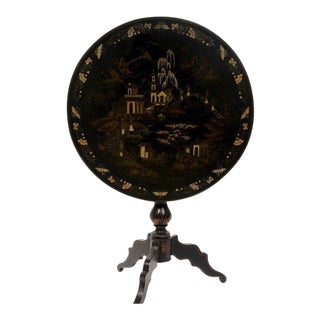 Chinoiserie Round Tilt-Top Table