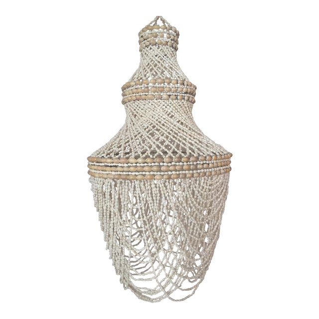 Beaded Shell Chandelier Lantern - Image 1 of 7