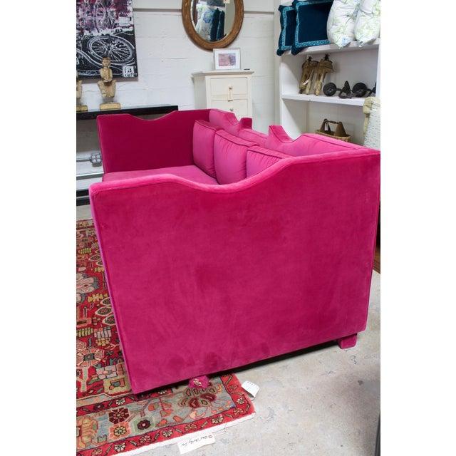 Deep Pink Velvet Sofa - Image 3 of 5