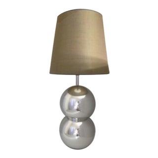 Tall Mid-Century Modern Stainless Steel Table Lamp