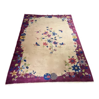 """Bellwether Rugs Chinese Vintage Art Deco Area Rug - 6'x8'8"""""""