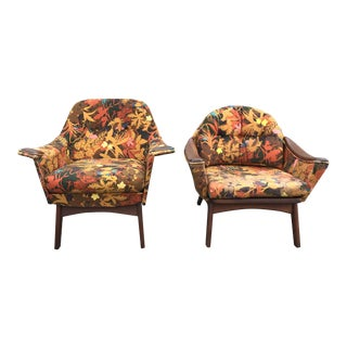"Adrian Pearsall Mid-Century ""His & Hers"" Chairs - A Pair"