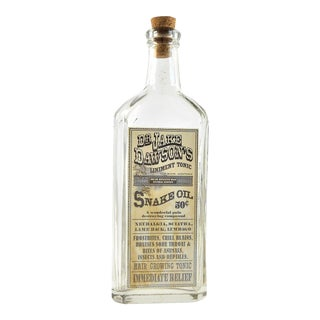 Vintage Snake Oil Remedy Bottle – Decorative Antique Remedy Bottle