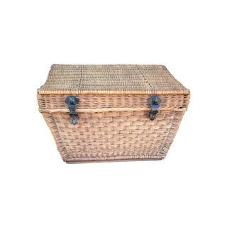 Antique Wicker Trunk