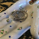 Image of Porcelain Hand Ashtray or Trinket Dish