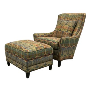 Schumacher Aspen Statement Chair & Ottoman