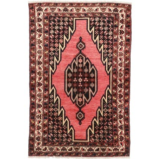 Vintage Persian Hamadan Hand-Knotted Wool Rug