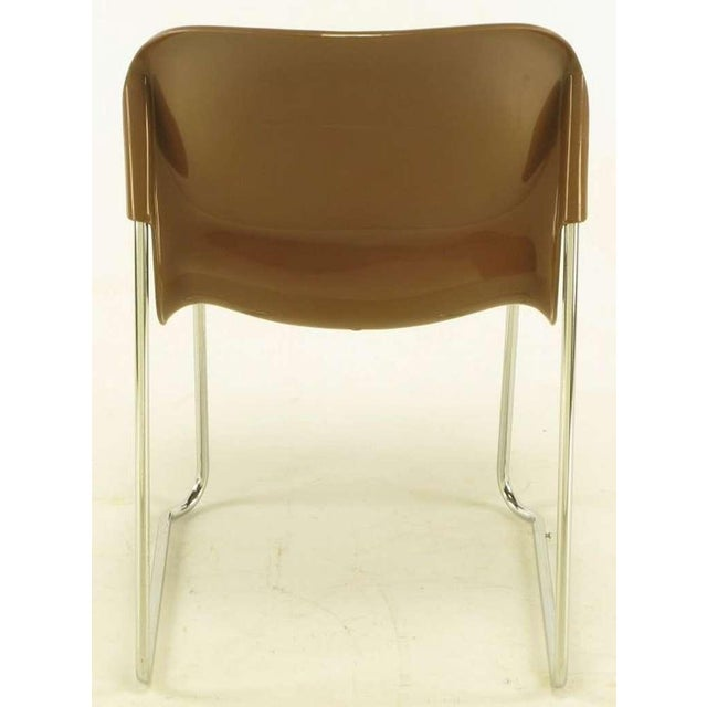 Image of Four Gerd Lange West German Chrome SM 400 Swing Chairs