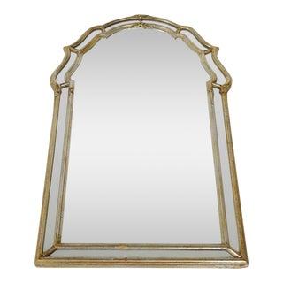 La Barge Mid-Century Italian Regency Aged Silver Leaf Mirror