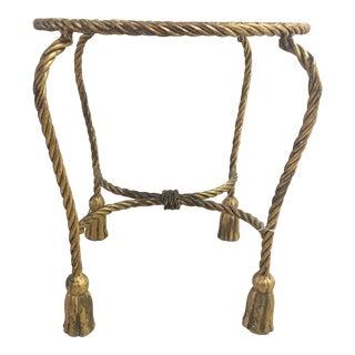 Italian Regency Gilded Rope Tassel Stool