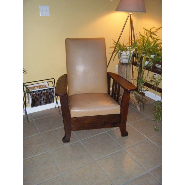 Antique 1911 Mission Oak Reclining Morris Chair - Image 2 of 5