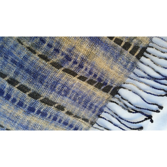 Tribal Tie Dye Hemp Table Runner - Image 3 of 5