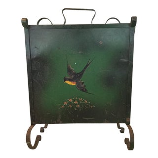 Hand-Painted Magazine Rack, Arts and Craft Period