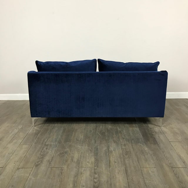 Royal Blue Velvet Sofa - Image 11 of 11