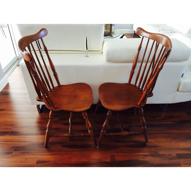 Heywood Wakefield American Braceback Chairs - Pair - Image 4 of 8
