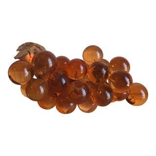 Mid-Century Amber Lucite Grapes